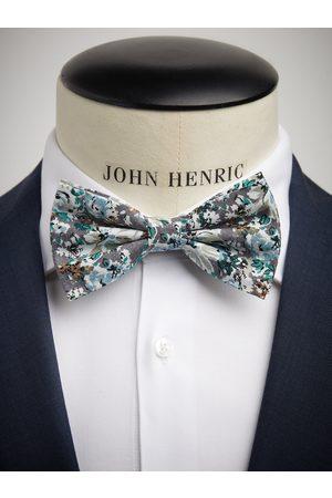 John Henric Man Flugor - Grey Bow Tie Cotton Floral