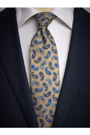 John Henric Beige Tie Paisley