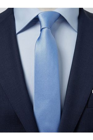 John Henric Light Blue Tie Plain