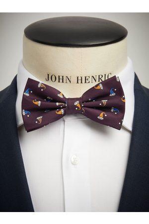 John Henric Christmas Bow Tie Burgundy