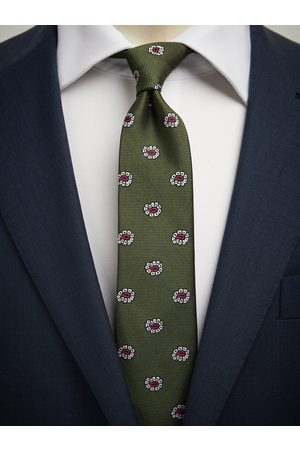 John Henric Man Slipsar - Green Tie Paisley
