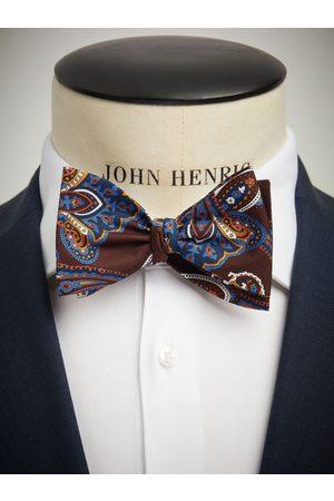 John Henric Brown Bow Tie Paisley