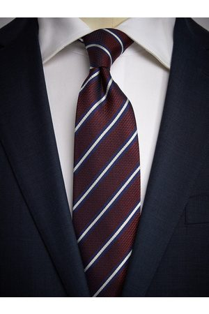 John Henric Burgundy Tie Striped