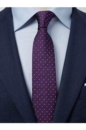 John Henric Dark Purple Tie Dot