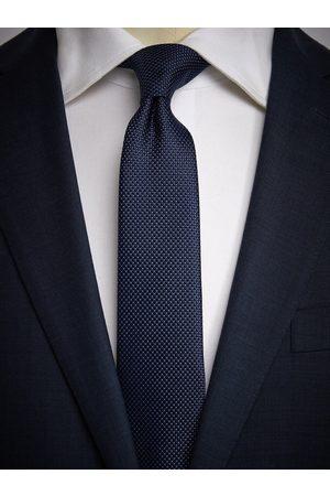 John Henric Dark Blue Tie Structure