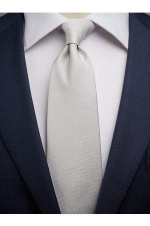 John Henric Silver Tie Plain