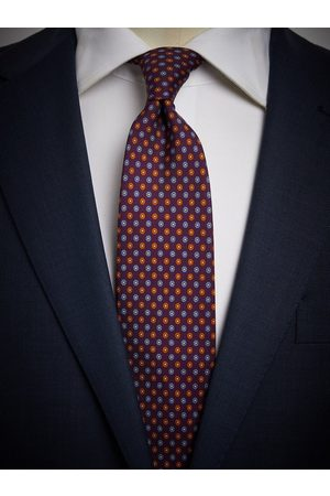 John Henric Man Slipsar - Purple Tie Motif