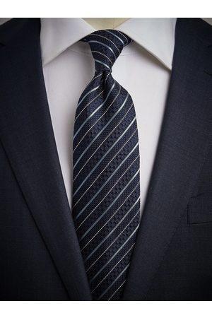 John Henric Man Slipsar - Blue Grenadine Tie