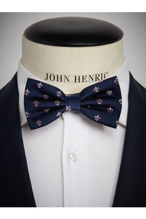 John Henric Man Flugor - Blue Bow Tie Motif