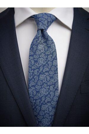 John Henric Blue Tie Cotton Paisley
