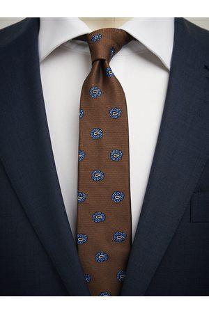 John Henric Man Slipsar - Brown Tie Paisley