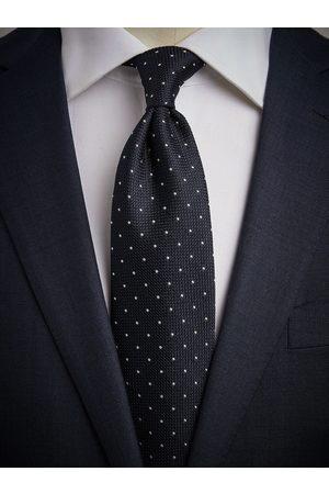 John Henric Man Slipsar - Blue Grenadine Tie Dot