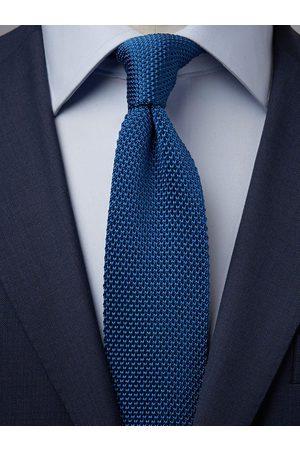 John Henric Man Stickade tröjor - Blue Knitted Tie