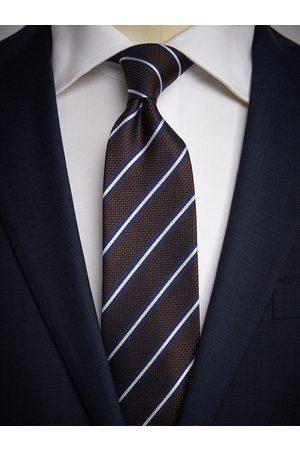 John Henric Man Slipsar - Brown Tie Striped