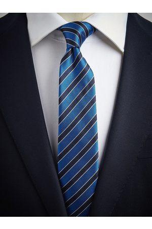 John Henric Man Slipsar - Blue Tie Striped