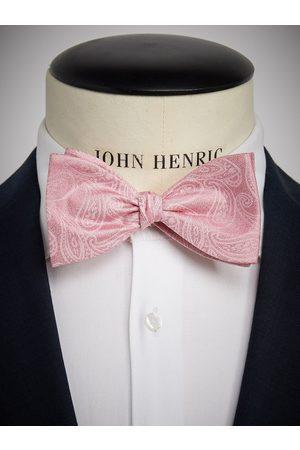 John Henric Man Flugor - Pink Bow Tie Paisley