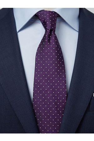 John Henric Dark Purple Dot Tie