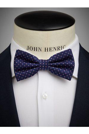 John Henric Blue & Pink Bow Tie Dot