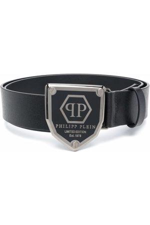Philipp Plein Man Bälten - Läderbälte med logotypplakett