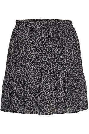 Michael Kors Cheetah Rfl Mini Skirt Kort Kjol Svart