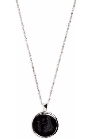 TOM WOOD Athena Onyx pendant necklace