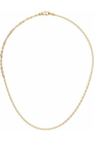 TOM WOOD Halsband - Anker guldpläterat halsband med sterlingsilver