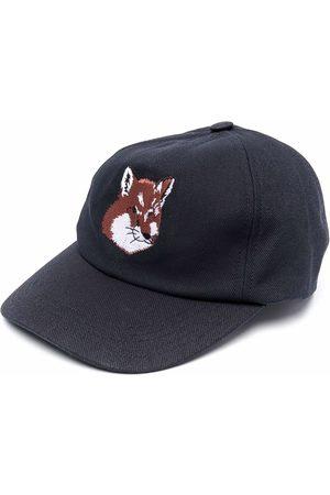Maison Kitsuné Man Kepsar - Fox head embroidered cap