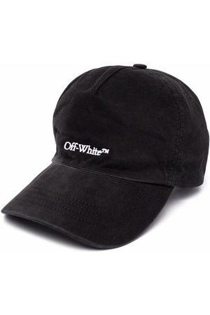 OFF-WHITE Man Kepsar - BOOKISH OW BASEBALL CAP BLACK WHITE