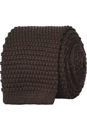 Amanda Christensen Man Stickade tröjor - Wool Knitted 6cm Tie Brown