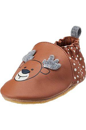 Robeez Unisex Baby liten hjort spjälsäng sko, - Marron Moka - 18 EU