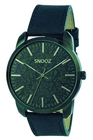 Snooz Mäns analog kvarts klocka med läder armband Saa1044-64