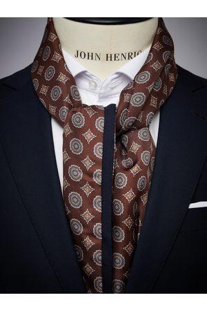 John Henric Man Sjalar - Brown Wool & Silk Scarf