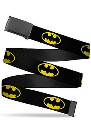 Buckle Down Spänne ner nätbälte för män, Batman sköld / , 1,25 tum bred passar upp till 42 tum byxstorlek