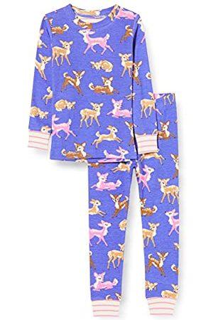 Hatley Flickors ekologisk bomull långärmad applikationer pyjamas, Söta fawns, 5 År