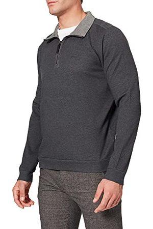 Pierre Cardin Herrtröja upprätt krage dragkedja interlock doubleface with tencel sweatshirt, GRÅ, XL