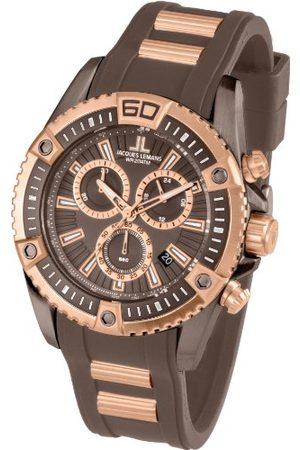 Jacques Lemans Herrarmbandsur XL Liverpool professionell kronograf kvarts silikon armband En Storlek