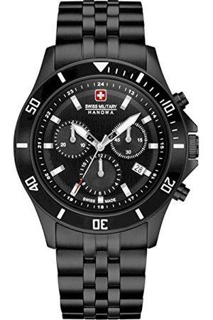 Swiss Military Hanowa Unisex vuxna analog kvartsur med rostfritt stål armband 06-5331.13.007