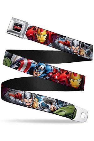 Buckle Spänne ner ner unisex säkerhetsbälte XL, Marvel Avengers 4-superhjälte poserar C/U, 1,5 tum bred, 32/52 tum lång