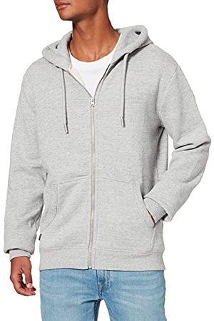 Superdry Herr vintage logotyp Emb Ziphood Bb huvtröja sweatshirt, Athletic Grey Marl, M