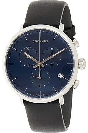 Calvin Klein Calvin liten unisex vuxna kronograf kvartsur med läderarmband K8M271CN