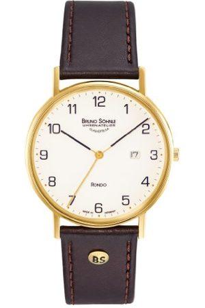 Soehnle Bruno lejon herr analog kvartsklocka med läderarmband 17–33105–921