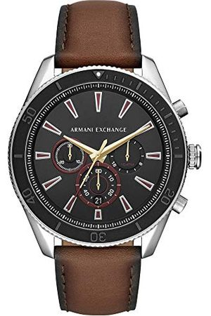Emporio Armani Mäns kronograf kvarts klocka med läderarmband AX1822