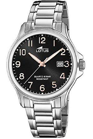 Lotus Herr analog kvartsklocka med rostfritt stål armband 18645/3