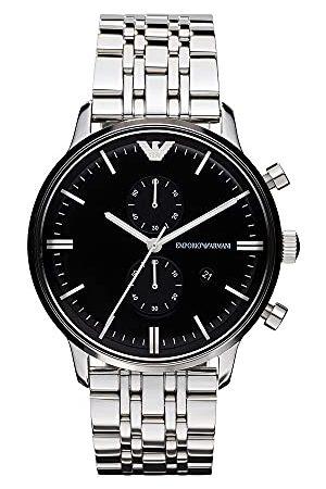 Emporio Armani Herrarmbandsur XL kronograf kvarts rostfritt stål AR0389