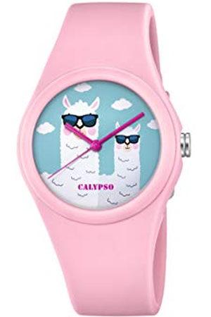 Calypso Flicka analog quiltad dunjacka klocka med plastarmband K5789/3