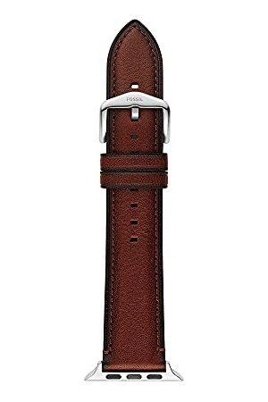 Fossil Analog kvartsklocka för män med läderarmband S420013