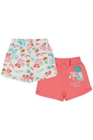 Popgear Flickors Peppa Pig Sunshine Vibes shorts tvåpack , , 4-5 År