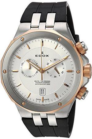 Edox Herr analog kvartsklocka med gummiarmband 10110 357RCA AIR