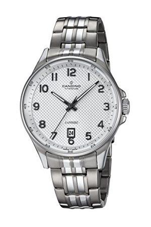 Candino Herr datum klassisk kvartsklocka med titan armband C4606/1