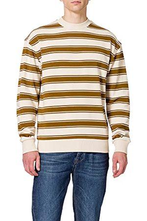 Scotch&Soda Randig bomull rund hals tröja för män, Combo A 0217, XXL